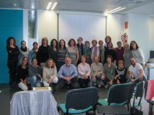 Grupo de formación en el Colegio Oficial de Infermeros de Barcelona